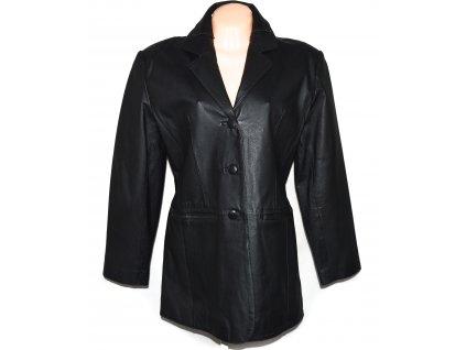 KOŽENÝ dámský černý kabát PARIS