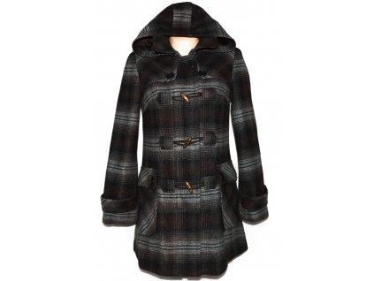 Dámský hnědočerný kabát na zip a vidlice Orsay S