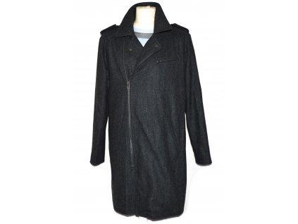Vlněný pánský šedý kabát - křivák ASOS M