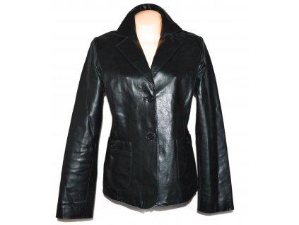 KOŽENÉ dámské černé sako 44