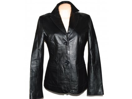 KOŽENÉ dámské černé měkké sako Kenvelo L