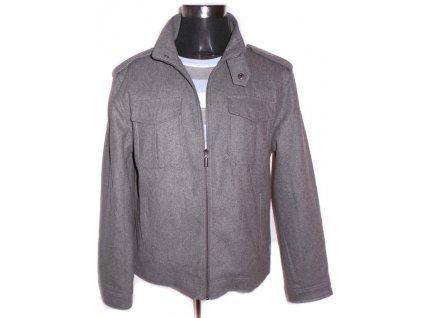 Vlněná pánská šedá bunda na zip EASY L