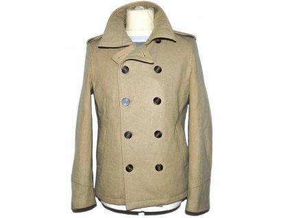 Vlněný pánský béžový kabát Cedarwood state S