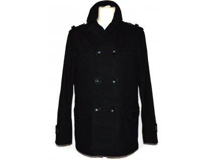 Vlněný pánský černý kabát URBAN SPIRIT M