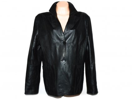 KOŽENÉ dámské černé měkké sako Arma XXXL