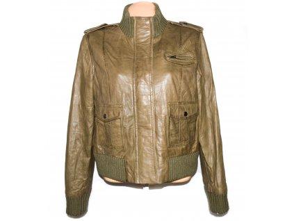 KOŽENÁ dámská měkká bunda na zip F&F XXL