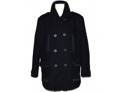 Vlněný pánský modrý kabát NEXT XL