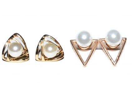 Dámské naušnice s perlou