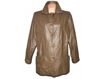 KOŽENÁ dámská hnědá bunda Milan Leather XXL