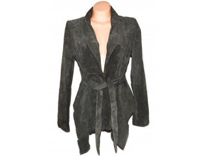 KOŽENÝ dámský kabátek s páskem Betty Jackson L/XL