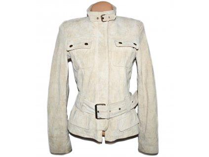 KOŽENÝ dámský kabát s páskem na zip NEW LOOK M/L