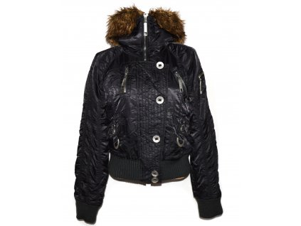 Dámská černá šusťáková bunda na zip Funky Girl XL