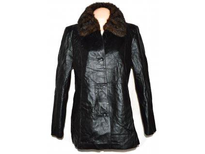 KOŽENÝ dámský černý kabát s kožíškem Centigrade XXL