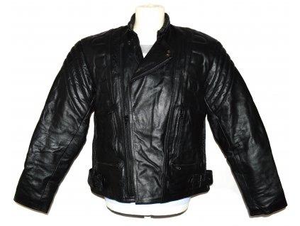 KOŽENÝ pánský černý motorkářský křivák MDK M