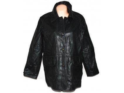 KOŽENÁ dámská černá měkká bunda XXL
