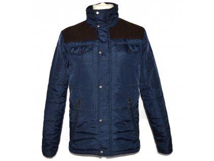 Pánská modrá šusťáková bunda na zip TOPMAN S