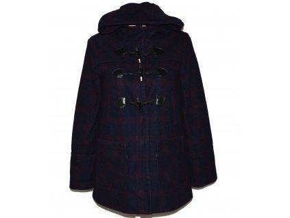 Vlněný dámský modrý kabát s kapucí Oasis M