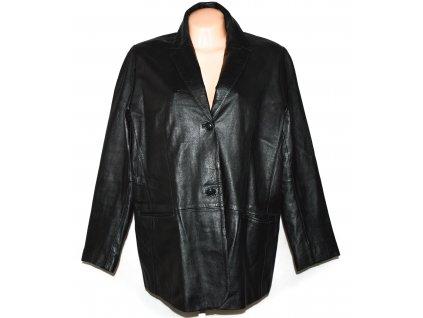 KOŽENÉ dámské černé měkké sako Essence XXXL+