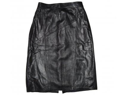 KOŽENÁ dámská černá měkká sukně M/L