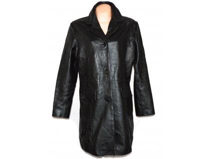 KOŽENÝ dámský černý měkký kabát Chantel Leather XXL