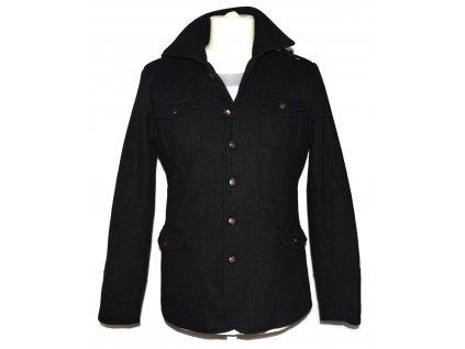 Vlněný pánský černý zateplený kabát Todor Homme XS