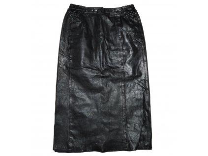 KOŽENÁ dámská černá sukně Hollies 36