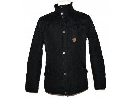 Pánská černá prošívaná bunda na zip NEXT S