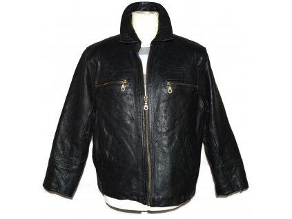 KOŽENÁ pánská černá zateplená bunda na zip The Leather Club M