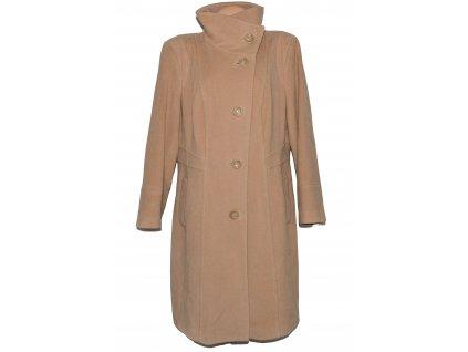 Vlněný dámský béžový dlouhý kabát Debenhams (vlna, kašmír)