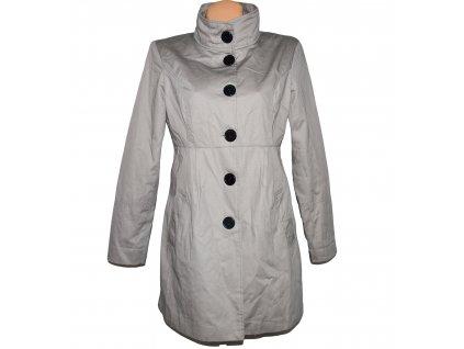 Bavlněný dámský šedý kabát L