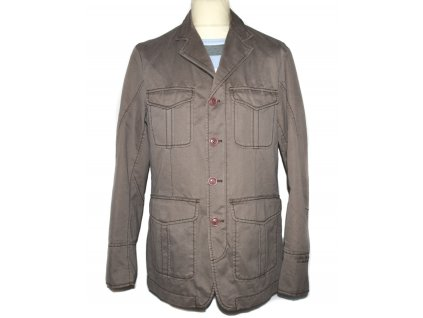 Bavlněná pánská hnědá bunda Esprit L