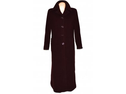 Vlněný dámský dlouhý vínový kabát Erich Fend