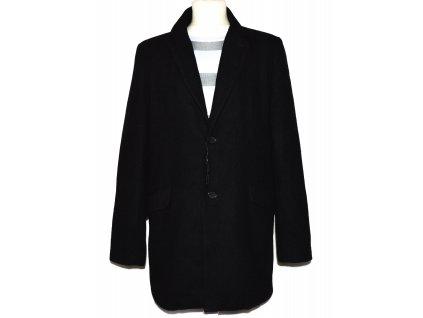 Vlněný pánský černý kabát Butler&Webb L