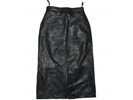 KOŽENÁ dámská černá sukně 36
