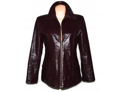 KOŽENÁ dámská zateplená vínová bunda Vera Pelle M
