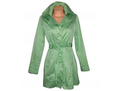 Bavlněný dámský mint kabát s páskem ORSAY 42
