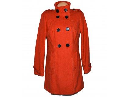 Vlněný dámský oranžový kabát BHS 14/42