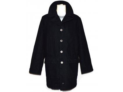 Vlněný (80%) pánský modrý kabát Lee Cooper L