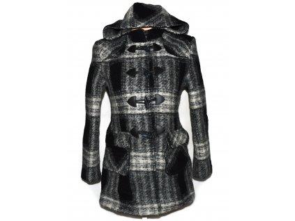 Vlněný (80%) dámský kabát s kapucí NEW LOOK L