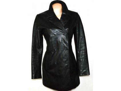 KOŽENÝ dámský černý měkký kabát DPl