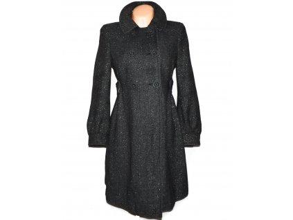 Vlněný dámský dlouhý šedo-stříbrný kabát NEW LOOK L