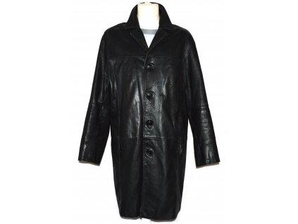 KOŽENÝ pánský černý měkký dlouhý kabát Enviro XL