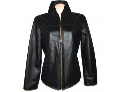 KOŽENÁ dámská černá měkká bunda na zip Calypso XL