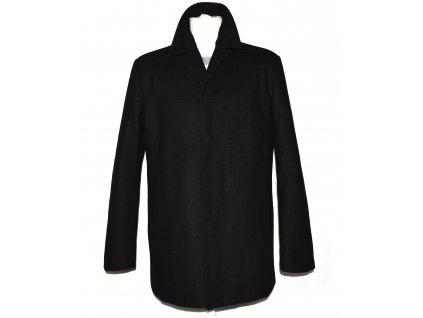 Vlněný pánský černý zateplený kabát Michell M