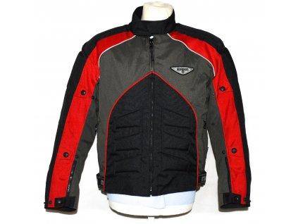 Pánská černo-červená motorkářská bunda s teplou vložkou NAZRAN L