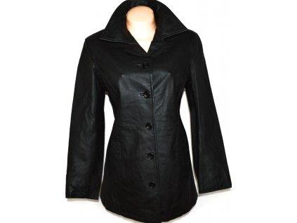 KOŽENÝ dámský černý kabát XL 2