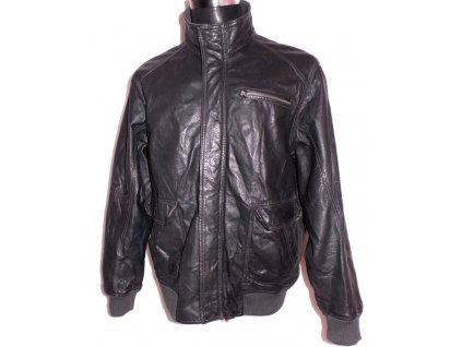 KOŽENÁ pánská šedá bunda na zip BEN SHERMAN Lben