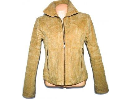 KOŽENÁ dámská béžová bunda na zip SNAP SHOT  L