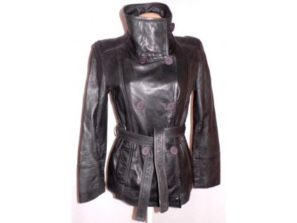 KOŽENÝ dámský měkký kovový kabát LAKELAND