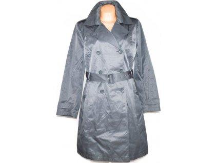 Dámský šedý kabát s páskem MALVIN XXL